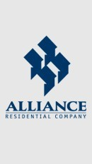 This is an ad banner for Alliance Residential Company.